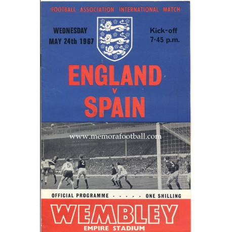 England v Spain 24-05-1967 Friendly match programme
