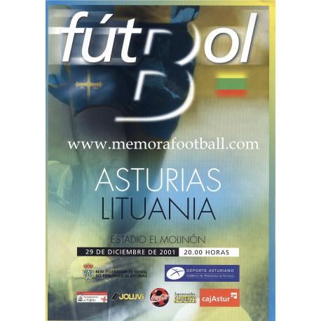 Asturias v Lithuania 29-12-2011 Friendly match programme