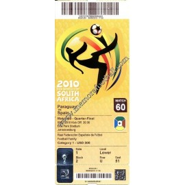 España vs Paraguay - FIFA World Cup Sudáfrica 2010 ticket
