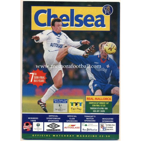 Chelsea v Real Mallorca 1999 European Cup Winners´ Cup Semi Final programme