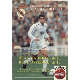 Real Madrid v Real Oviedo LFP 17/09/1995 Official Programme