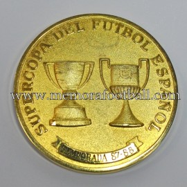Real Madrid 1988 Spanish Super Cup medal vs FC Barcelona