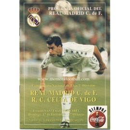 Real Madrid v Celta de Vigo LFP 17/12/1995 Official programme