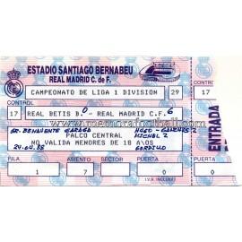Real Madrid v Real Betis 24-04-1988