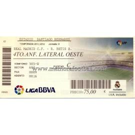 Real Madrid v Real Betis LFP 2011/2012