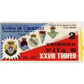 Real Madrid v Real Sociedad 28-08-1982