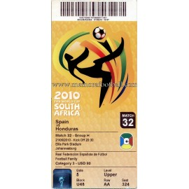 Spain vs Honduras - 2010 FIFA World Cup ticket