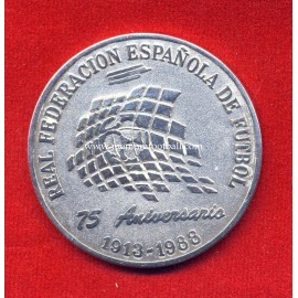 Spanish FA 75th Anniversary, 1988 commemorative silver medal