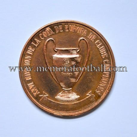 Medalla de la Final de la Copa de Europa 1981