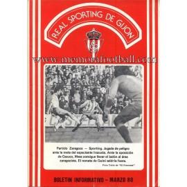 Sporting de Gijón v Betis 29-03-1980 programme