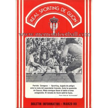 Sporting de Gijón v Betis 29-03-1980 programa