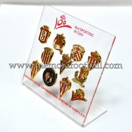 Collection of Centenary badges Sporting de Gijón