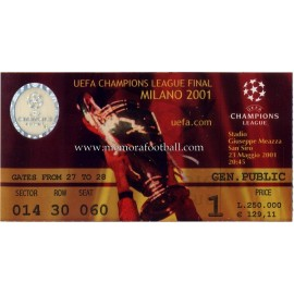 UEFA Champions League Final 2001 ticket
