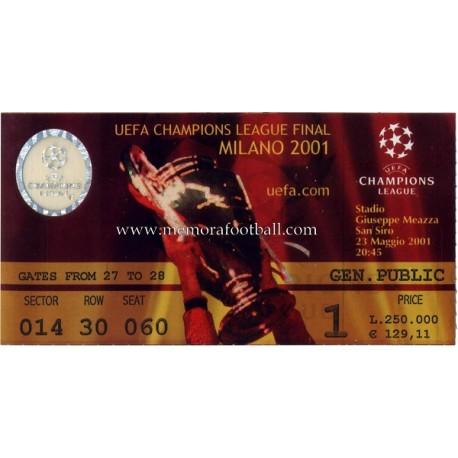 champions league 2001 winner