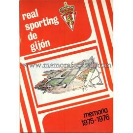 Memoria Sporting de Gijón 1975/76