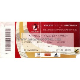 Athletic Club vs FC Barcelona 2015 Spanish FA Cup Final ticket