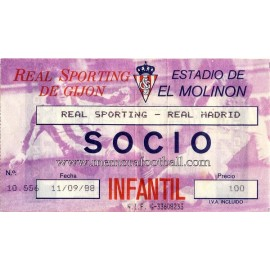 Sporting de Gijón vs Real Madrid 11-09-88
