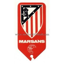 Etiqueta de equipaje del Atlético de Madrid 1950s