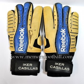 """IKER CASILLAS"" 2008-09 match worn gloves"