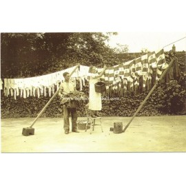London, August 1935. Tottenham Hotspurs´ Washing Day. Modern replica