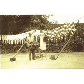 London, August 1935. Tottenham Hotspurs´ Washing Day. Modern replica