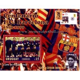 1899-1999 Centennial stamp FC Barcelona
