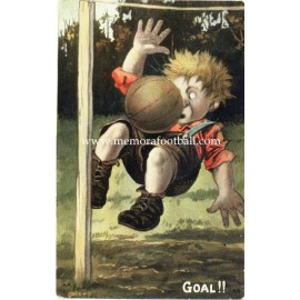 """Goal"" comic football post card. England 1900s"