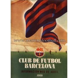 Boletín CF Barcelona nº2 Abril 1954