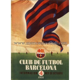 Boletín CF Barcelona nº4 October 1954