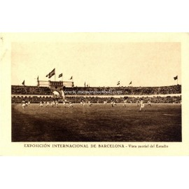 Olympic Stadium, Barcelona (Spain) 1920s post card