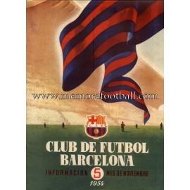 Boletín CF Barcelona nº5 Noviembre 1954