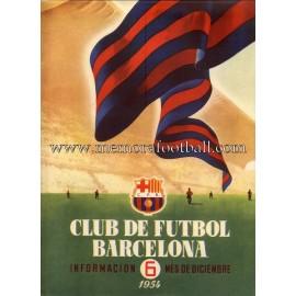 Boletín CF Barcelona nº6 Diciembre 1954