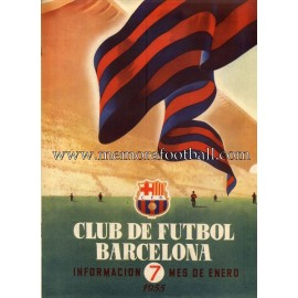 Boletín CF Barcelona nº7 January 1955