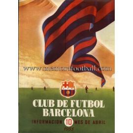 Boletín CF Barcelona nº10 Abril 1955