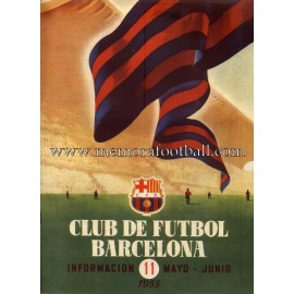 Boletín CF Barcelona nº11 May-June 1955