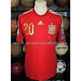 """CAZORLA"" Spain vs Slovakia 05-09-2015 match worn"