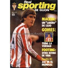 """Revista Real Sporting de Gijón"" Nº11 1981"