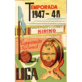 Spanish League 1ª Division 1947-1948, Football Calendar