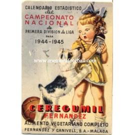 Spanish League 1ª Division 1944-1945 football calendar