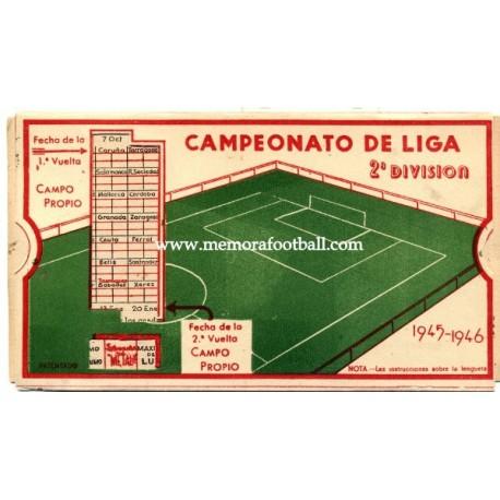 Spanish League 1ª Division 1945-1946 football calendar