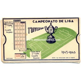Spanish League 1ª Division 1945-1946 football calendar