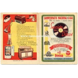 Spanish League 1ª & 2º Division 1951-1952 publicity football calendar