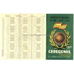 Spanish League 2ª Division 1958-1959 publicity football calendar