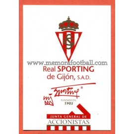 21-12-1997 Sporting de Gijón card