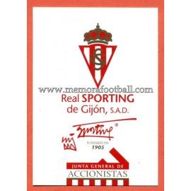 Tarjeta Sporting de Gijón 21-12-1997
