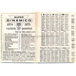 Spanish League 1ª Division 1973-1974 football calendar