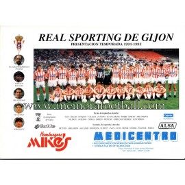 1991-92 Sporting de Gijón sheet