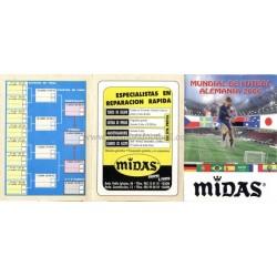 Spanish publicity football calendar FIFA World Cup 2006 Germany
