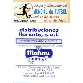 Spanish publicity football calendar FIFA World Cup 2010 South Africa
