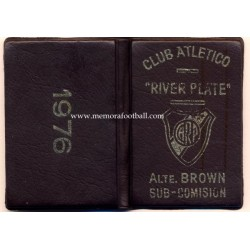 1976 Club Atlético River Plate (Argentina) membership card